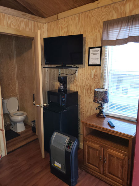 Alpine Hideaway Campground - Cabin 10 Appliances