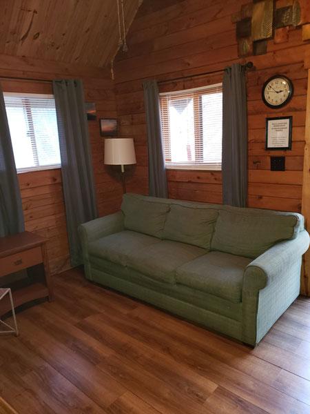 Alpine Hideaway Campground - Cabin 80 Sleeper Sofa